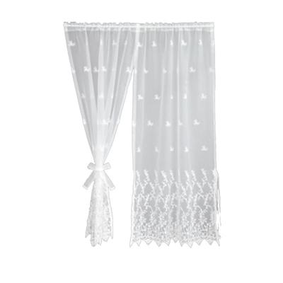 川島織物セルコン ギュピールレース スタイルのれん 150×150cm DW1607 Wホワイト