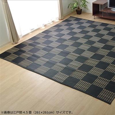 洗える PPカーペット 『ウィード』 ブラック 江戸間4.5畳(約261×261cm) 2116904