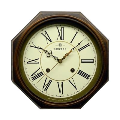 さんてる 日本製 EUスタイルクラシカル 電波掛け時計 アンティークブラウン DQL675-R (ローマ文字)