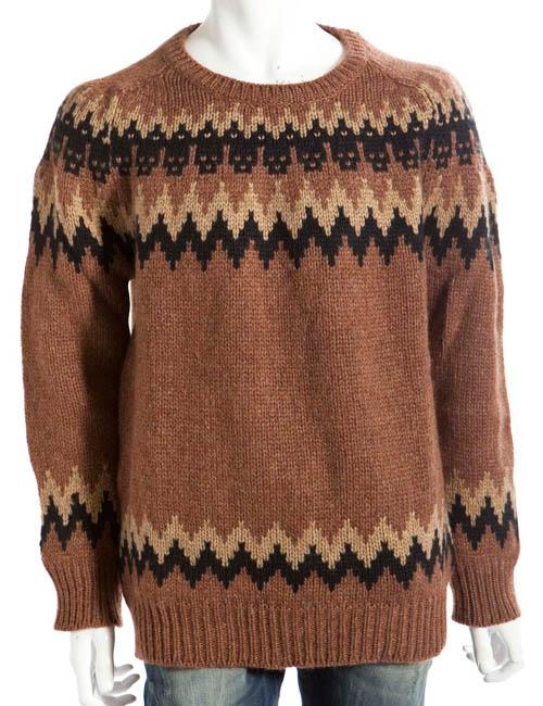 サハジャ SAHAJA セーター 長袖 メンズ 10822 ブラウン 送料無料 楽ギフ_包装 10%OFFクーポンプレゼント