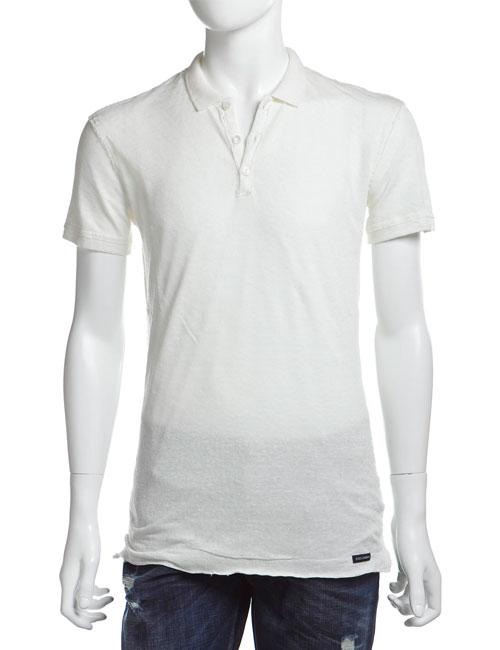 ドルガバ ドルチェ&ガッバーナ DOLCE&GABBANA ポロシャツ 半袖 メンズ G8U86T G7LB3 ホワイト 送料無料 楽ギフ_包装 10%OFFクーポンプレゼント