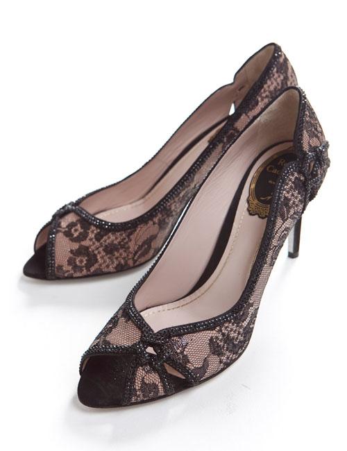 レネカオヴィラ RENE CAOVILLA 激安通販 レネ カオヴィラ パンプス 靴 目玉商品 レディース 送料無料 10%OFFクーポンプレゼント C7471 お得 ブラック