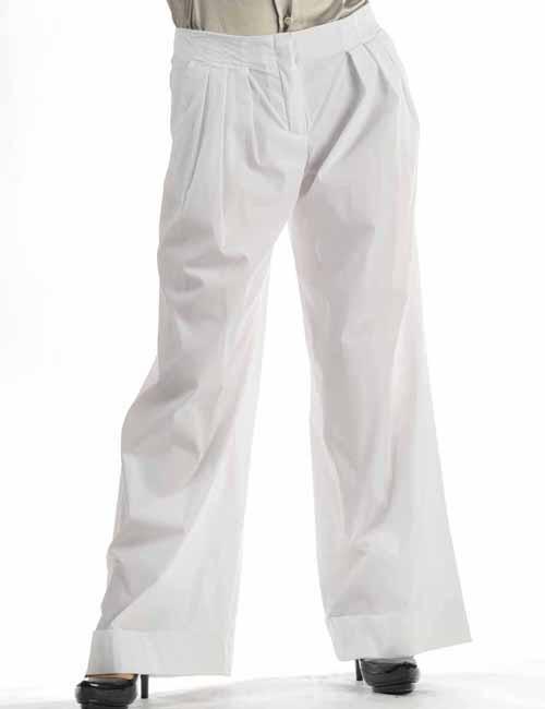 【スーパーSALE 全品10%OFFクーポン配布中】ポールカ PAULE KA パンツ レディース 101 P16 ホワイト 送料無料 10%OFFクーポンプレゼント 目玉商品