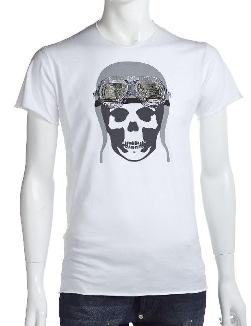 ルシアンペラフィネ lucien pellat-finet ペラフィネ Tシャツ 半袖 丸首 メンズ EVH1476 ホワイト 送料無料 楽ギフ_包装 10%OFFクーポンプレゼント