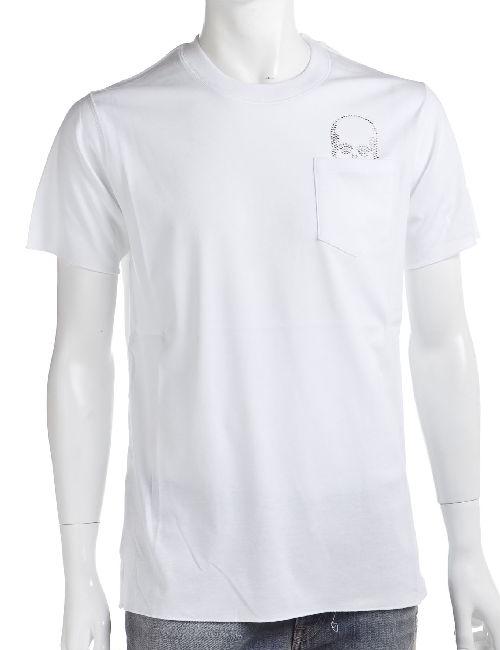 ルシアンペラフィネ lucien pellat-finet ペラフィネ Tシャツ 半袖 丸首 メンズ EVH1482 ホワイト 送料無料 楽ギフ_包装 10%OFFクーポンプレゼント