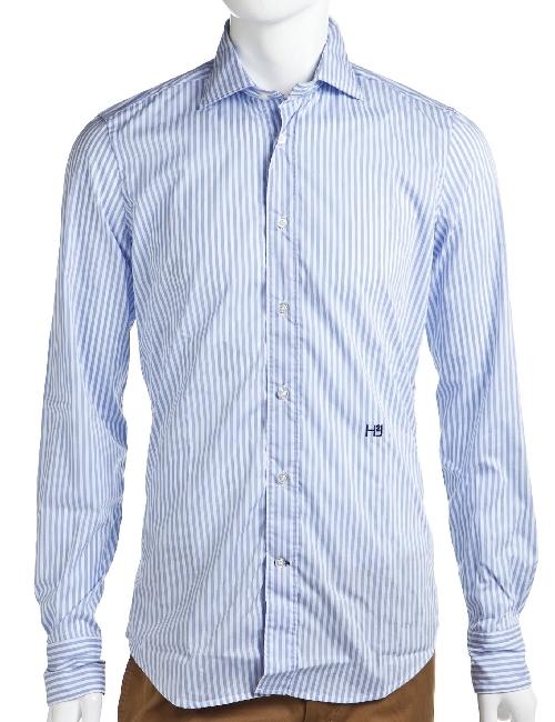 ハイドロゲン HYDROGEN シャツ 長袖 メンズ 140406 ホワイト×ブルー HYDROGEN 10%OFFクーポンプレゼント 目玉商品
