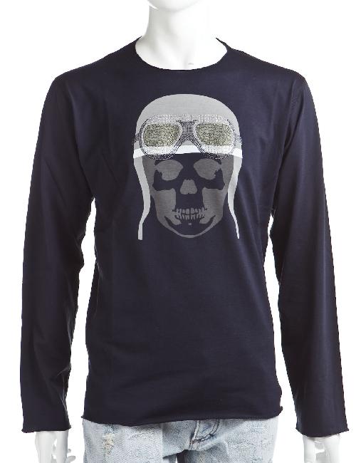 ルシアンペラフィネ lucien pellat-finet ペラフィネ ロングTシャツ ロンT 長袖 丸首 メンズ EVH1475 ネイビー 送料無料 楽ギフ_包装 10%OFFクーポンプレゼント