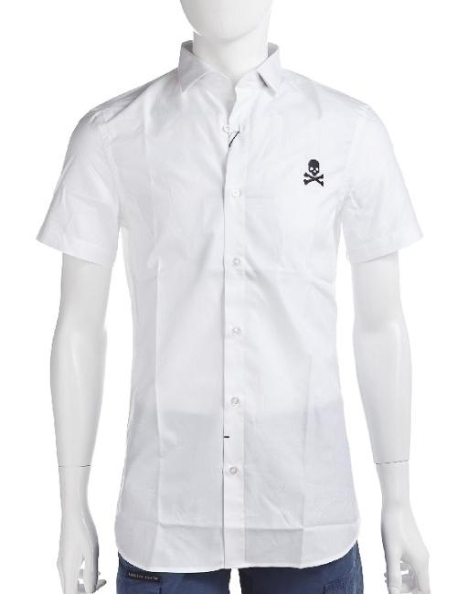 フィリッププレイン PHILIPP PLEIN シャツ 半袖 メンズ SS14 HM331582 ホワイト フィリッププレイン 送料無料 10%OFFクーポンプレゼント 目玉商品