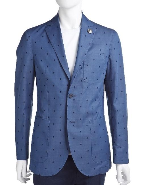 ハイドロゲン HYDROGEN ジャケット 2ボタン サイドベンツ メンズ 140304 ブルー 10%OFFクーポンプレゼント 目玉商品
