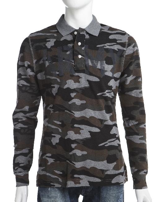ハイドロゲン HYDROGEN ポロシャツ メンズ 158025 グレー迷彩 10%OFFクーポンプレゼント HYD底値挑戦