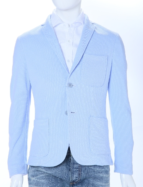 ダニエレアレッサンドリーニ DANIELEALESSANDRINI ジャケット 3ボタン サイドベンツ シングル メンズ G2320E5783500 ライトブルー 送料無料 楽ギフ_包装 10%OFFクーポンプレゼント