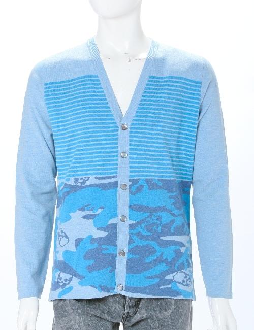 ルシアンペラフィネ lucien pellat-finet ペラフィネ セーター カーディガン メンズ VM04H ブルー 送料無料 目玉商品 10%OFFクーポンプレゼント