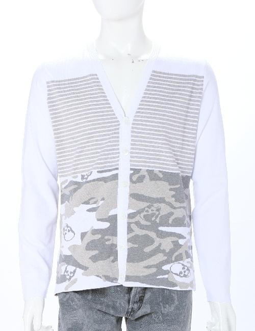 ルシアンペラフィネ lucien pellat-finet ペラフィネ セーター カーディガン メンズ VM04H ホワイト 送料無料 目玉商品 10%OFFクーポンプレゼント