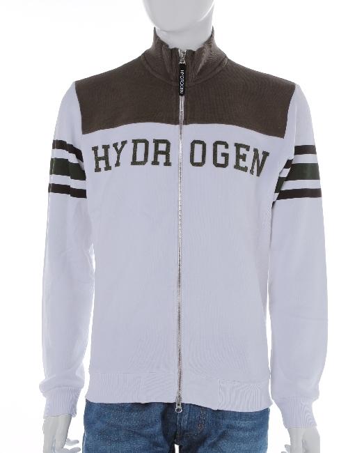 ハイドロゲン HYDROGEN ハイドロゲン トレーナー トラックジャケット 長袖 スウェット ハイドロゲン メンズ 160610 WHITE DARKGREEN HYDROGEN ハイドロゲン 10%OFFクーポンプレゼント