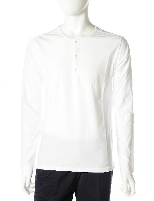 ハイドロゲン HYDROGEN ハイドロゲン ロングTシャツ ハイドロゲン ロンT 長袖 ヘンリーネック ハイドロゲン メンズ 160005 ホワイト 10%OFFクーポンプレゼント