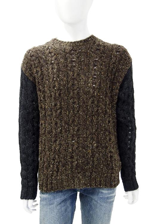 ディーゼル DIESEL セーター 長袖 丸首 メンズ 00SDVS 0DAHX ブラウン 送料無料 楽ギフ_包装 10%OFFクーポンプレゼント