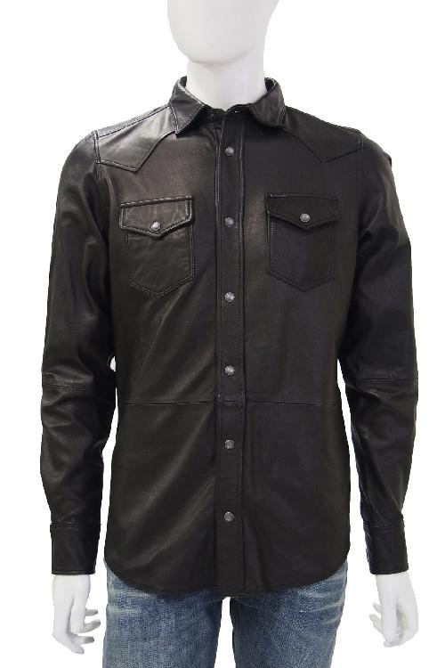 ディーゼル DIESEL レザーシャツ L-SONORA CAMICIA メンズ 00SET0 0HAFV ブラック 送料無料 楽ギフ_包装 10%OFFクーポンプレゼント