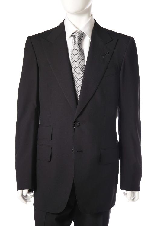 トムフォード TOM FORD スーツ 2つボタン サイドベンツ シングル メンズ T22R12 21AL43 L ブラック 送料無料 10%OFFクーポンプレゼント