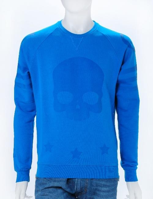 ハイドロゲン HYDROGEN ハイドロゲン トレーナー 長袖 丸首 プルオーバー スウェット ハイドロゲン メンズ 160014 ブルー 10%OFFクーポンプレゼント