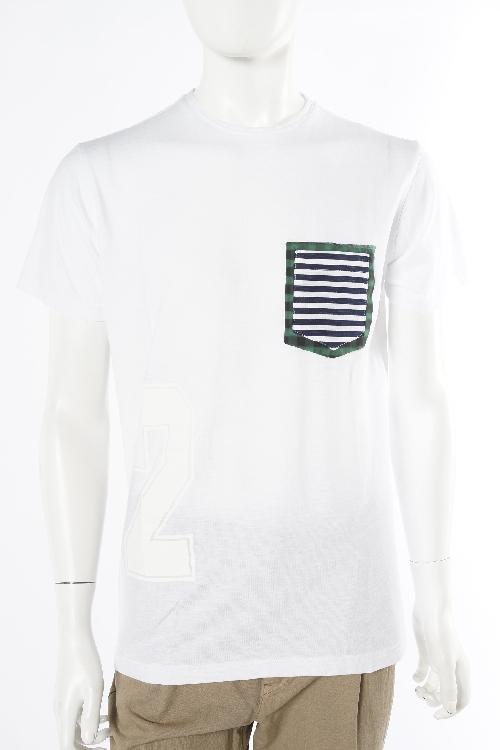 ダニエレアレッサンドリーニ DANIELEALESSANDRINI Tシャツ 半袖 丸首 MAGLIA EGITTO MC ST メンズ M5807E6473600 ホワイト 送料無料 楽ギフ_包装 10%OFFクーポンプレゼント 目玉商品0180313