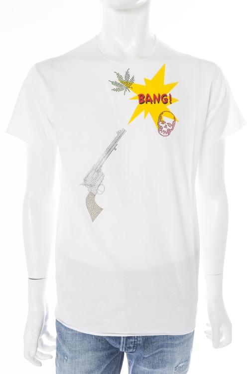ルシアンペラフィネ lucien pellat-finet ペラフィネ Tシャツ 半袖 丸首 メンズ EVH1799 ホワイト 送料無料 楽ギフ_包装 10%OFFクーポンプレゼント