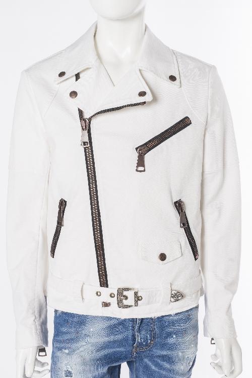 ガブリエレパジーニ GABRIELE PASINI ブルゾン ライダースジャケット メンズ G6KIODO1 G6012 ホワイト 送料無料 目玉商品0180313