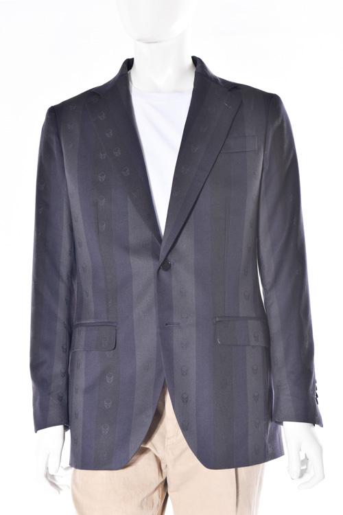 ルシアンペラフィネ lucien pellat-finet ペラフィネ ジャケット 2つボタン サイドベンツ シングル メンズ MIC30H ネイビー×グレー 送料無料 10%OFFクーポンプレゼント