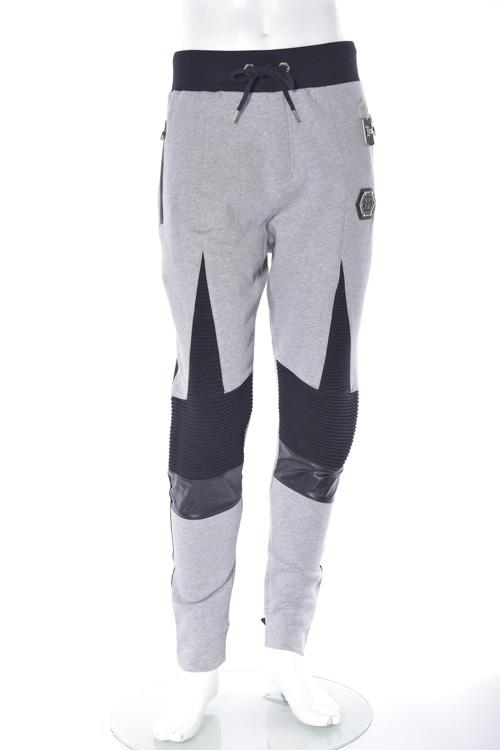 フィリッププレイン PHILIPP PLEIN トレーナーパンツ スウェットパンツ sweat pants bold calibri メンズ FW16 HM680791-1 グレー 送料無料 楽ギフ_包装 10%OFFクーポンプレゼント 【ラッキーシール対応】