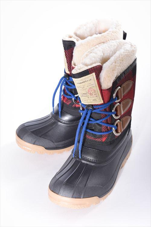 【期間限定10%OFFクーポン配布】ディースクエアード DSQUARED2 ブーツ ハンティングブーツ 靴 メンズ W16NU104618 ブラック×レッド 送料無料 10%OFFクーポンプレゼント 【ラッキーシール対応】