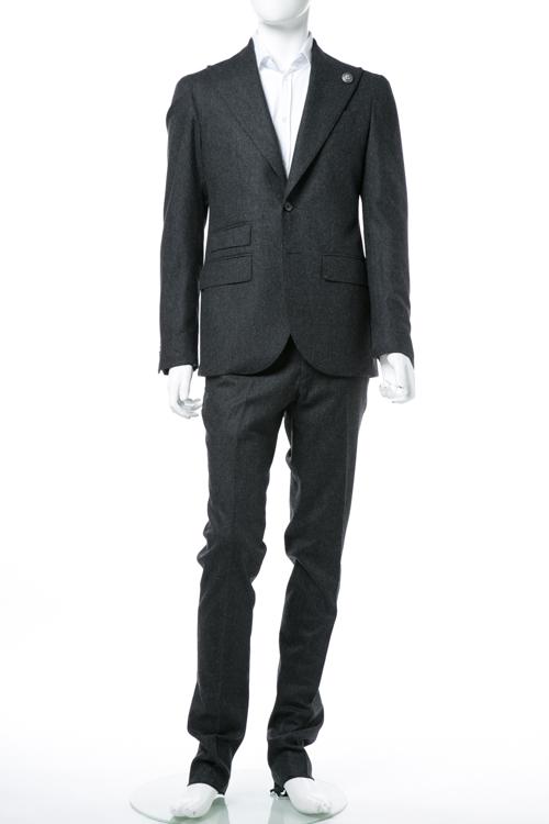 ハイドロゲン HYDROGEN スーツ 2つボタン サイドベンツ シングル メンズ 190304 ダークグレイ 送料無料 10%OFFクーポンプレゼント
