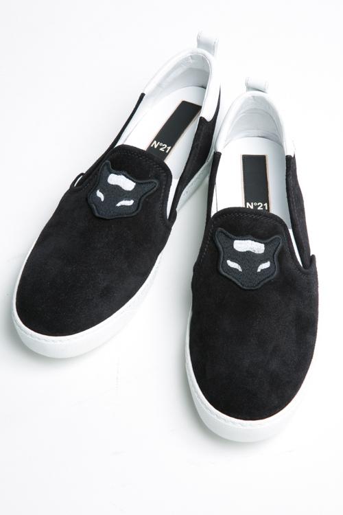 【スーパーSALE 10%OFFクーポン配布中】ヌメロヴェントゥーノ N°21 スニーカー スリッポン シューズ 靴 メンズ 2114 ブラック 送料無料 10%OFFクーポンプレゼント SALE16AW2 【ラッキーシール対応】
