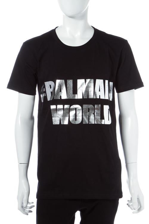 【期間限定10%OFFクーポン配布】バルマン BALMAIN Tシャツ 半袖 丸首 メンズ W6HJ601I005M ブラック 送料無料 楽ギフ_包装 10%OFFクーポンプレゼント SALE16AW2 【ラッキーシール対応】