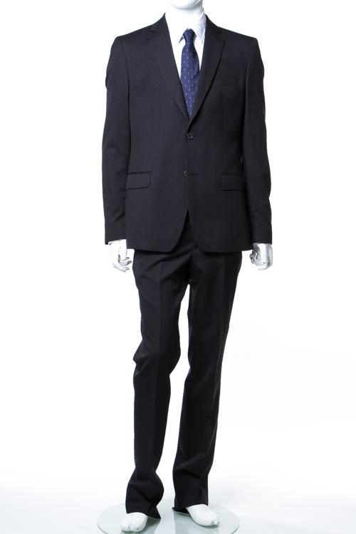 【期間限定10%OFFクーポン配布】ヴェルサーチコレクション VERSACE COLLECTION スーツ 2つボタン サイドベンツ シングル メンズ V100028 VT00827 ダークグレイ 送料無料 アウトレット 10%OFFクーポンプレゼント 【ラッキーシール対応】