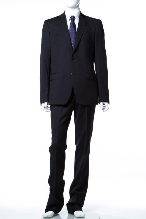 【期間限定10%OFFクーポン配布】ヴェルサーチコレクション VERSACE COLLECTION スーツ 2つボタン サイドベンツ シングル メンズ V100028 VT00846 ブラック 送料無料 アウトレット 10%OFFクーポンプレゼント 【ラッキーシール対応】