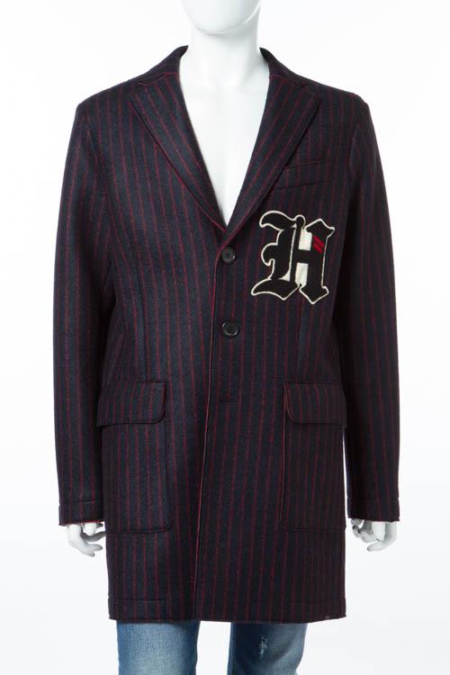 ハイドロゲン HYDROGEN コート チェスターコート メンズ 190320 ネイビー×レッド 送料無料 楽ギフ_包装 10%OFFクーポンプレゼント