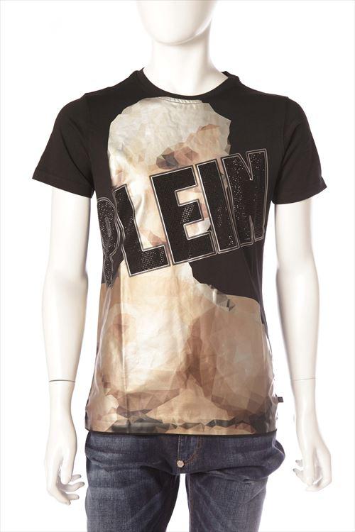フィリッププレイン PHILIPP PLEIN Tシャツ 半袖 丸首 メンズ SS16 HM340797 ブラック 送料無料 楽ギフ_包装 10%OFFクーポンプレゼント 一押値下
