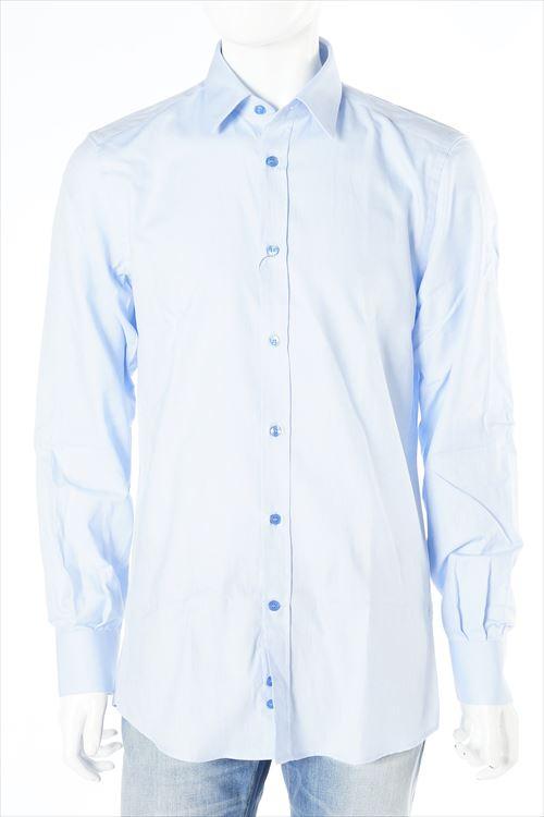 ヴェルサーチコレクション VERSACE COLLECTION シャツ 長袖 メンズ V300000 VT01038 ブルー 送料無料 楽ギフ_包装 10%OFFクーポンプレゼント