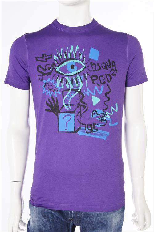 ディースクエアード DSQUARED2 ディースクエアード Tシャツ 半袖 丸首 メンズ S71GD0209S21600 パープル 送料無料 楽ギフ_包装 10%OFFクーポンプレゼント DSQ値下げ 2004値下げ