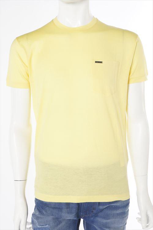 ディースクエアード DSQUARED2 ディースクエアード Tシャツ 半袖 丸首 メンズ S74GD0002S22440 イエロー 送料無料 楽ギフ_包装 10%OFFクーポンプレゼント DSQ値下げ 2004値下げ