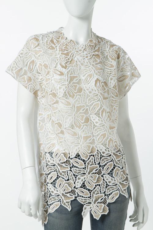 ヌメロヴェントゥーノ N°21 シャツ 半袖 レディース G161 4818 ホワイト 送料無料 楽ギフ_包装 10%OFFクーポンプレゼント