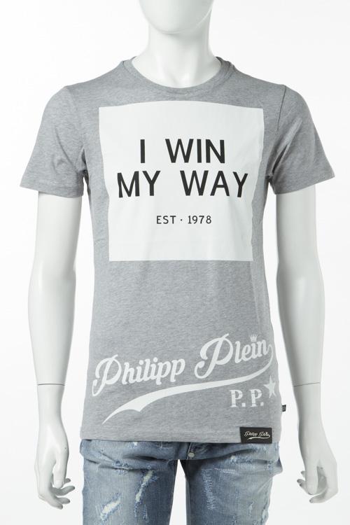 フィリッププレイン PHILIPP PLEIN Tシャツ 半袖 丸首 メンズ S17C MTK0100 グレー 送料無料 楽ギフ_包装 10%OFFクーポンプレゼント
