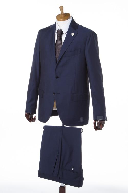 【期間限定10%OFFクーポン配布】ラルディーニ LARDINI スーツ シングル ブートニエール メンズ PT32801AQ 44494 ネイビー 10%OFFクーポンプレゼント 【ラッキーシール対応】