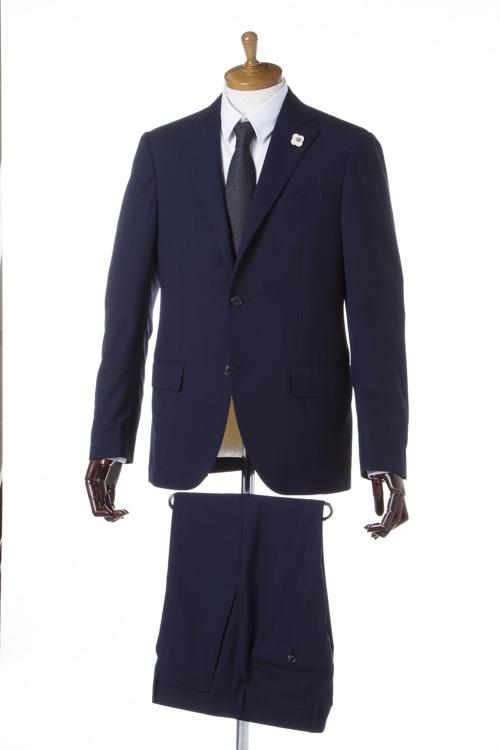 ラルディーニ LARDINI スーツ 2つボタン サイドベンツ シングル ブートニエール メンズ PT32485AQ 44426 ネイビー 送料無料 一押値下 10%OFFクーポンプレゼント 2004値下げ