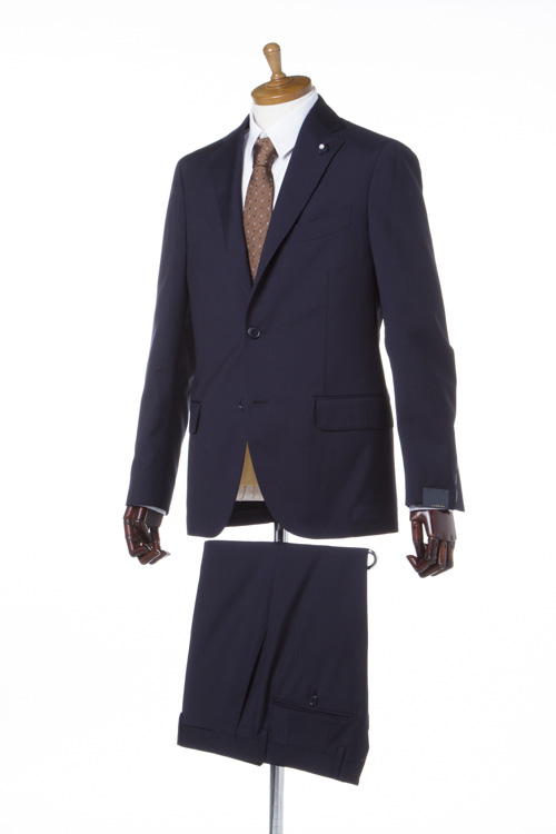 【期間限定10%OFFクーポン配布】ラルディーニ LARDINI スーツ 2ピーススーツ シングル メンズ EA801AQ 46490 ネイビー 送料無料 10%OFFクーポンプレゼント 【ラッキーシール対応】