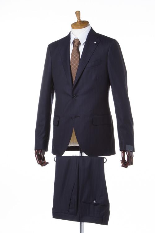 ラルディーニ LARDINI スーツ 2つボタン シングル SOFT ブートニエール メンズ EA722AQ 46456 ネイビー 送料無料 一押値下 10%OFFクーポンプレゼント 2004値下げ
