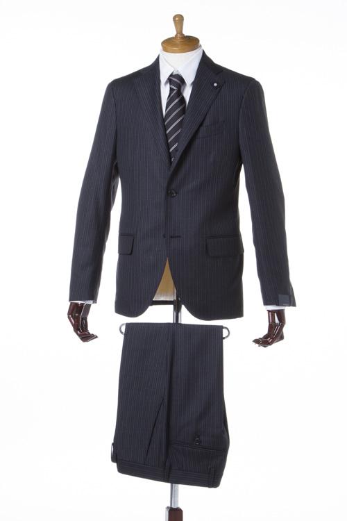 【期間限定10%OFFクーポン配布】ラルディーニ LARDINI スーツ 3つボタン サイドベンツ シングル AQC868125 ブートニエール メンズ EC485AQ 868125 ダークグレイ 送料無料 10%OFFクーポンプレゼント 【ラッキーシール対応】