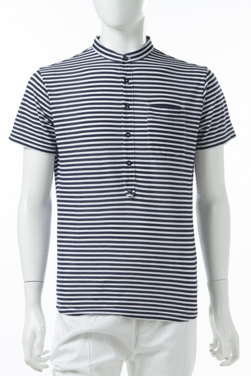 ダニエレアレッサンドリーニ DANIELEALESSANDRINI Tシャツ 半袖 ヘンリーネック MAGLIA GRILLO MC メンズ M6196E6873700 ネイビー 送料無料 楽ギフ_包装 10%OFFクーポンプレゼント