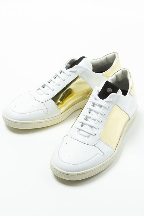 パームエンジェルス PALM ANGELS スニーカー ローカット シューズ 靴 メンズ OMIA008S 076001 ホワイト×ゴールド 送料無料 10%OFFクーポンプレゼント 【ラッキーシール対応】