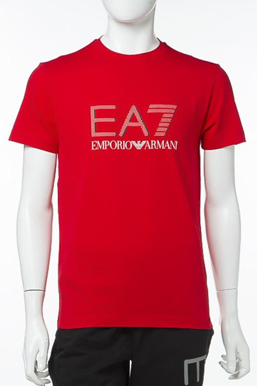 エンポリオアルマーニ Emporio Armani EA7 Tシャツ 半袖 丸首 メンズ 3YPTF7 PJ18Z レッド 送料無料 楽ギフ_包装 10%OFFクーポンプレゼント 【ラッキーシール対応】