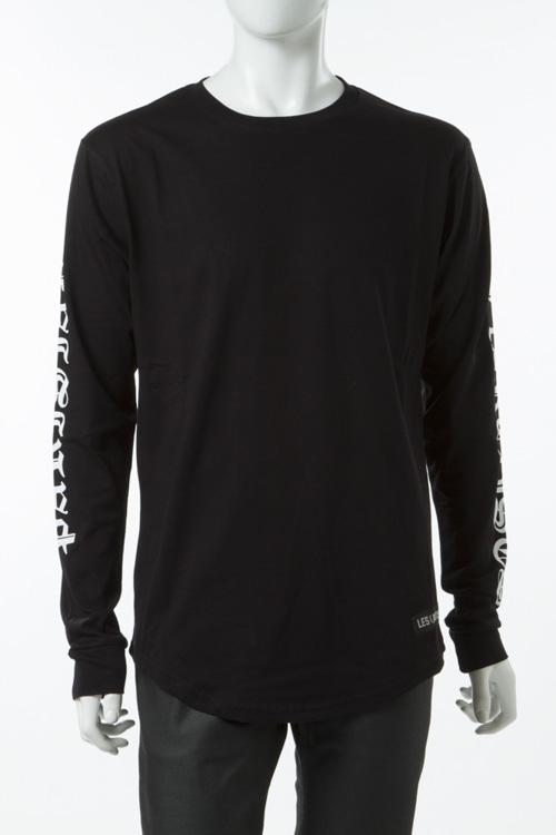 レスアーティスト LES ART ISTS ロングTシャツ ロンT 長袖 丸首 メンズ LA04TML84BK ブラック 送料無料 楽ギフ_包装